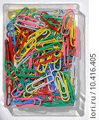 Купить «colored paperclips», фото № 10416405, снято 19 марта 2019 г. (c) PantherMedia / Фотобанк Лори