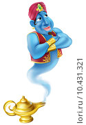 Купить «Friendly Jinn or genie and magic oil lamp», иллюстрация № 10431321 (c) PantherMedia / Фотобанк Лори