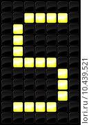 Купить «Vector illustration of single scoreboard letter icon », иллюстрация № 10439521 (c) PantherMedia / Фотобанк Лори