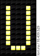 Купить «Vector illustration of single scoreboard letter icon », иллюстрация № 10439529 (c) PantherMedia / Фотобанк Лори