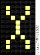 Купить «Vector illustration of single scoreboard letter icon », иллюстрация № 10439537 (c) PantherMedia / Фотобанк Лори