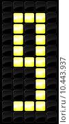 Купить «Vector illustration of console scoreboard number icon », иллюстрация № 10443937 (c) PantherMedia / Фотобанк Лори