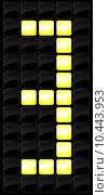 Купить «Vector illustration of console scoreboard number icon », иллюстрация № 10443953 (c) PantherMedia / Фотобанк Лори