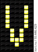 Купить «Vector illustration of single scoreboard letter icon », иллюстрация № 10446429 (c) PantherMedia / Фотобанк Лори