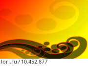 Купить «Red orange abstract waves», иллюстрация № 10452877 (c) PantherMedia / Фотобанк Лори