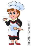 Купить «Female cook theme image 1», иллюстрация № 10466041 (c) PantherMedia / Фотобанк Лори