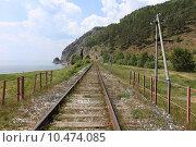 Кругобайкальская железная дорога летом рядом с поселком Половинная, Иркутская область. Стоковое фото, фотограф Алексей Гусев / Фотобанк Лори