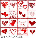Купить «Valentine's Day card, wrapping paper», иллюстрация № 10476689 (c) PantherMedia / Фотобанк Лори