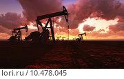 Купить «Oil field at  sunset», фото № 10478045, снято 17 июня 2019 г. (c) PantherMedia / Фотобанк Лори