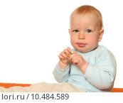 Купить «eating baby eat pastry nibbling», фото № 10484589, снято 23 апреля 2019 г. (c) PantherMedia / Фотобанк Лори