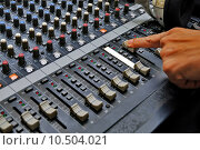 Купить «Sound mixer», фото № 10504021, снято 23 февраля 2019 г. (c) PantherMedia / Фотобанк Лори