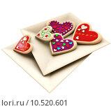 Купить «Allsorts heart-shaped cookies for Valentine's Day», фото № 10520601, снято 21 января 2018 г. (c) PantherMedia / Фотобанк Лори