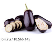 Купить «Eggplants or aubergines», фото № 10566145, снято 23 апреля 2019 г. (c) PantherMedia / Фотобанк Лори