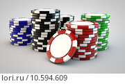 Купить «stacks of poker chips», фото № 10594609, снято 19 февраля 2020 г. (c) PantherMedia / Фотобанк Лори