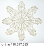 Купить «Crocheted lace on white», фото № 10597585, снято 21 июля 2015 г. (c) Ярочкин Сергей / Фотобанк Лори