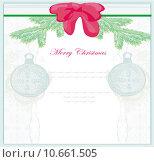 Купить «Christmas Framework style card with bauble», иллюстрация № 10661505 (c) PantherMedia / Фотобанк Лори