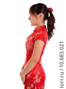 Купить «Side view Chinese girl», фото № 10683021, снято 26 июня 2019 г. (c) PantherMedia / Фотобанк Лори