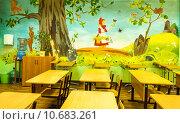 Купить «Начальная школа, оформление класса», фото № 10683261, снято 19 августа 2015 г. (c) Сергей Лысенко / Фотобанк Лори