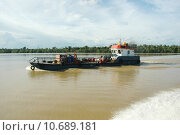 Купить «pontoon ship on the river», фото № 10689181, снято 20 января 2019 г. (c) PantherMedia / Фотобанк Лори