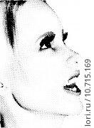 Купить «Halftone female face », иллюстрация № 10715169 (c) PantherMedia / Фотобанк Лори