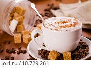 Купить «Close Up Photograph of a hot coffee cup», фото № 10729261, снято 17 января 2019 г. (c) PantherMedia / Фотобанк Лори
