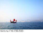 Купить «Sailboat sailing in victoria harbor at Hong Kong», фото № 10730593, снято 27 июня 2019 г. (c) PantherMedia / Фотобанк Лори