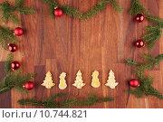 Купить «christmas background with decorations», фото № 10744821, снято 20 июня 2018 г. (c) PantherMedia / Фотобанк Лори