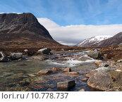 Купить «Lairig Ghru seen from river Dee, Scotland in may», фото № 10778737, снято 22 марта 2019 г. (c) PantherMedia / Фотобанк Лори