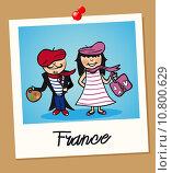 Купить «France travel polaroid people», иллюстрация № 10800629 (c) PantherMedia / Фотобанк Лори