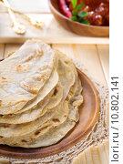 Купить «Indian Chapati», фото № 10802141, снято 15 октября 2019 г. (c) PantherMedia / Фотобанк Лори