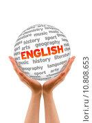 Купить «Hands holding a English word Sphere sign on white background.», фото № 10808653, снято 23 мая 2018 г. (c) PantherMedia / Фотобанк Лори