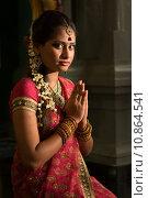 Купить «Indian female praying», фото № 10864541, снято 15 октября 2019 г. (c) PantherMedia / Фотобанк Лори