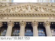 Купить «NY Stock Exchange, Wall Street», фото № 10867153, снято 22 апреля 2019 г. (c) PantherMedia / Фотобанк Лори