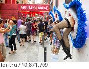 Купить «Gracia Festival Decorations in Barcelona», фото № 10871709, снято 16 августа 2015 г. (c) Яков Филимонов / Фотобанк Лори