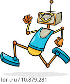 Купить «cartoon running robot illustration», иллюстрация № 10879281 (c) PantherMedia / Фотобанк Лори