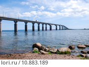 Купить «Olandbridge connecting the island  Oland with mainland Sweden», фото № 10883189, снято 20 июля 2019 г. (c) PantherMedia / Фотобанк Лори