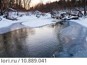 Купить «icebound banks of forest pond», фото № 10889041, снято 19 июля 2019 г. (c) PantherMedia / Фотобанк Лори