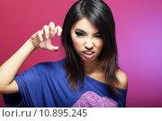 Купить «Negative Emotions. Expressive Asian Female Threatens», фото № 10895245, снято 22 марта 2019 г. (c) PantherMedia / Фотобанк Лори