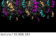 Купить «Halloween celebration with ribbons and confetti.», иллюстрация № 10908181 (c) PantherMedia / Фотобанк Лори