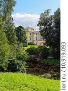 Купить «Summer landscape of the Pavlovsk garden, Russia. View to the palace.», фото № 10919093, снято 18 февраля 2019 г. (c) PantherMedia / Фотобанк Лори