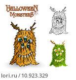 Купить «Halloween monsters spooky creature illustration EPS10 file», иллюстрация № 10923329 (c) PantherMedia / Фотобанк Лори