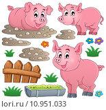 Купить «Pig theme collection 1», иллюстрация № 10951033 (c) PantherMedia / Фотобанк Лори