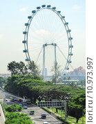 Купить «Singapore Rerries Wheel», фото № 10973997, снято 24 декабря 2018 г. (c) PantherMedia / Фотобанк Лори