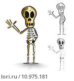 Купить «Halloween monsters isolated spooky skeletons set.», иллюстрация № 10975181 (c) PantherMedia / Фотобанк Лори