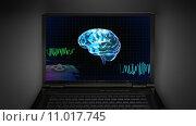 Купить «brain wave is display on laptop screen», фото № 11017745, снято 26 мая 2019 г. (c) PantherMedia / Фотобанк Лори