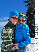 Купить «young couple on winter vacation», фото № 11023689, снято 4 июня 2020 г. (c) PantherMedia / Фотобанк Лори