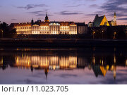 Купить «Royal Castle and Vistula River at Twilight in Warsaw», фото № 11023705, снято 20 марта 2018 г. (c) PantherMedia / Фотобанк Лори