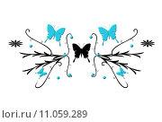 Купить «wall butterfly tattoo butterflies tendrils», фото № 11059289, снято 16 октября 2018 г. (c) PantherMedia / Фотобанк Лори