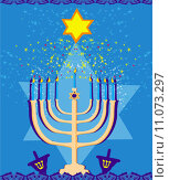 Купить «Vector illustration of hanukkah menorah abstract card», иллюстрация № 11073297 (c) PantherMedia / Фотобанк Лори