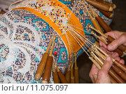 Купить «Spitzenklöppeln 2, Lace-making 2,», фото № 11075097, снято 20 марта 2019 г. (c) PantherMedia / Фотобанк Лори